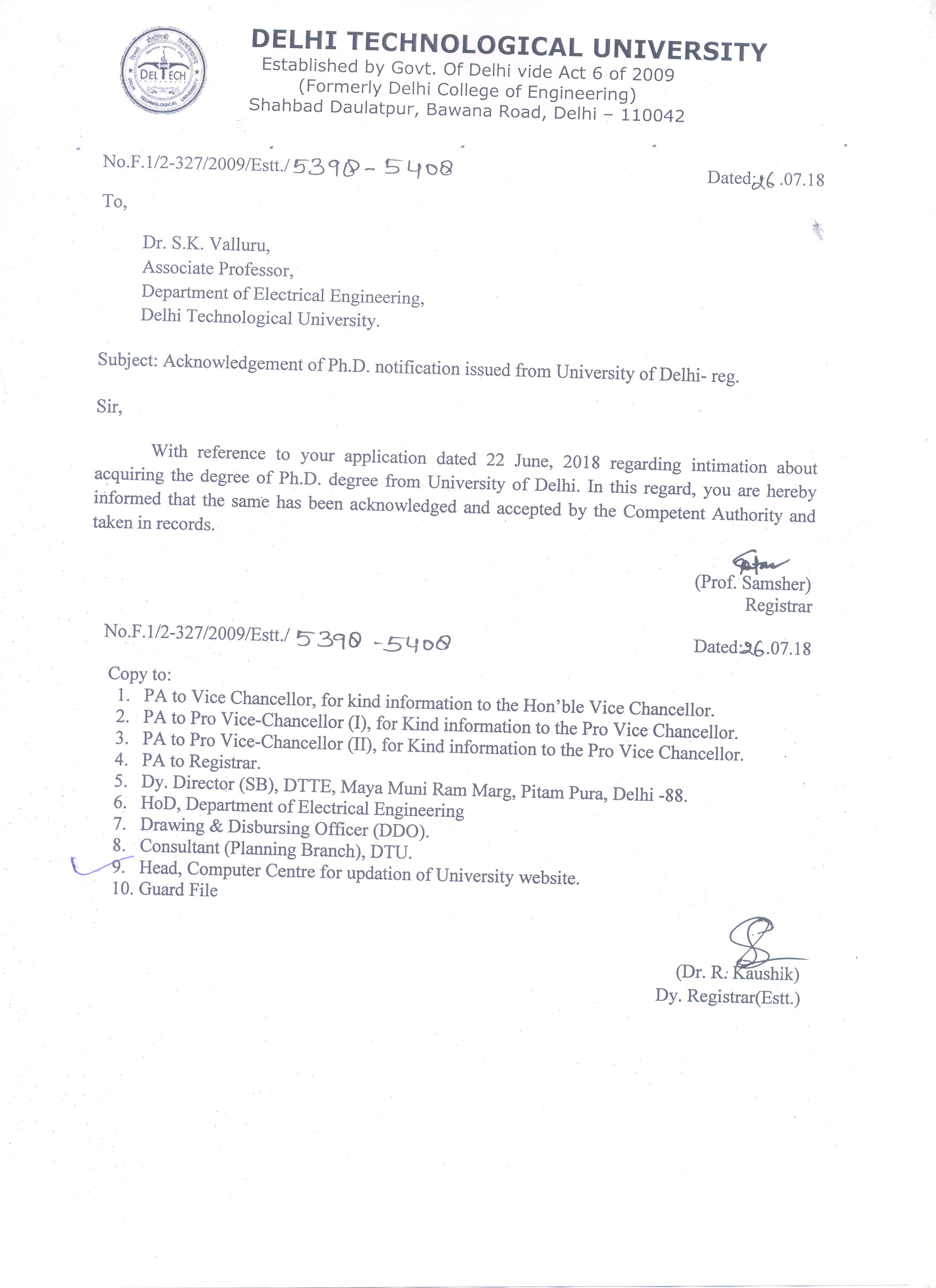 Archive   Delhi Technological University